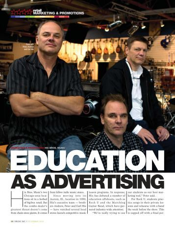 Marketing Excellence - Music Inc. Magazine