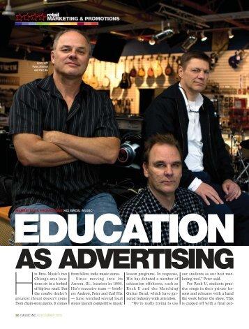 Marketing Excellence - Music Inc. Magazine