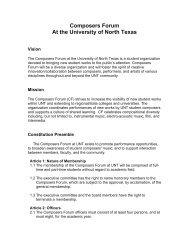 Constitution - UNT College of Music - University of North Texas