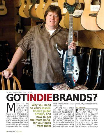 GOTINDIEBRANDS? - Music Inc. Magazine