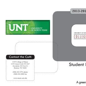 Student Handbook - UNT College of Music - University of North Texas