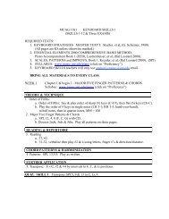 MUAG 1011 Fall 2013 - UNT College of Music - University of North ...