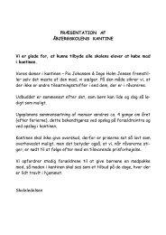 PRÆSENTATION AF ÅBJERGSKOLENS KANTINE Vi er glade for ...