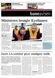 Ministeren besøgte Kystbanen - Banedanmark