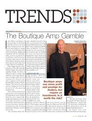 The Boutique Amp Gamble - Music Inc. Magazine