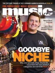 Why one specialty shop, Drums Etc., expanded into - Music Inc ...