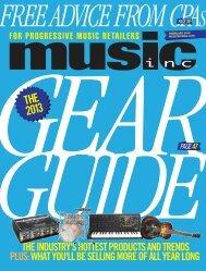 2013 THE - Music Inc. Magazine