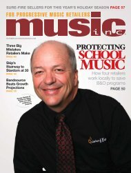 SCHOOL - Music Inc. Magazine