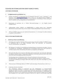 Tekniske bestemmelser - Bramming Fjernvarme amba