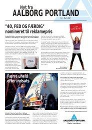 """40, FED OG FÆRDIG"""" nomineret til reklamepris - Aalborg Portland"""