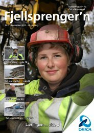 Fjellsprengern Nummer 2_2012 - Orica Mining Services