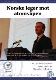 Last ned hele bladet i PDF-format - Norske Leger Mot Atomvåpen