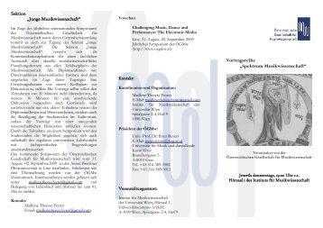 Programm Winter 2008/09 - Institut für Musikwissenschaft ...