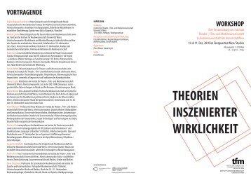theorien inszenierter wirklichkeit - Institut für Musikwissenschaft ...
