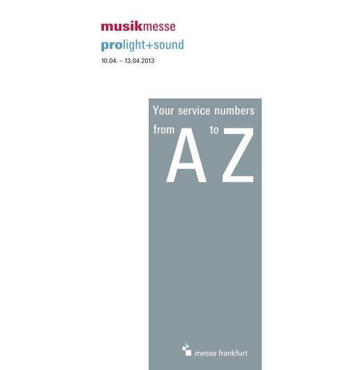 A Z Musikmesse 2013 E Pdf Musikmesse Messe Frankfurt