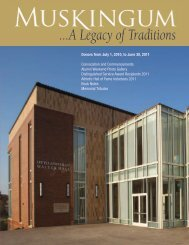...A Legacy of Traditions - Muskingum University