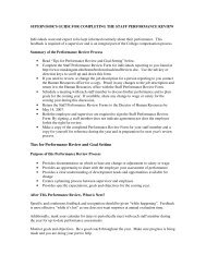 Supervisor's guide for completing the staff performance review