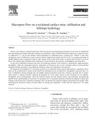 Macropore flow on a reclaimed surface mine: infiltration and ...