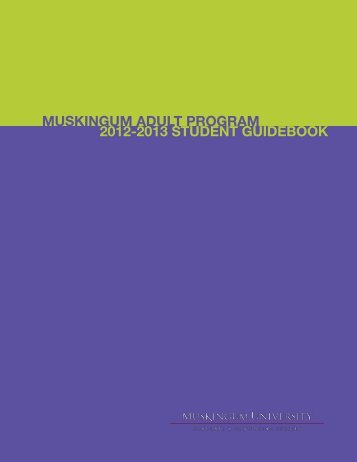 MAP Guidebook - Muskingum University