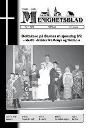 Deltakere på Barnas misjonsdag 8/2 - Menighetsbladet