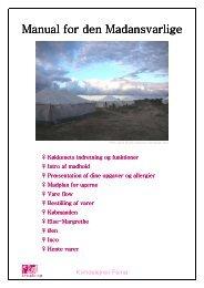 Manual for Manual for den Madansvarlige ... - Femø Kvindelejr