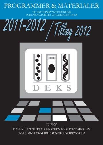 Tillæg 2012 til DEKS Programmer og Materialer 2011