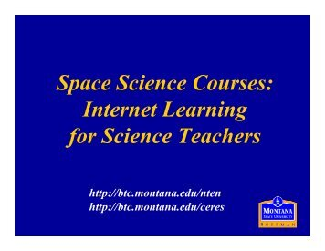 Space Science Courses: Internet Learning for ... - Mu-SPIN - NASA