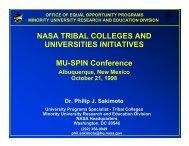NASA TRIBAL COLLEGES AND UNIVERSITIES ... - Mu-SPIN - Nasa