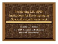 Positioning MU-SPIN Institutions for Participating in Space Mission ...