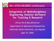 Integration of Multidisciplinary Engineering ... - Mu-SPIN - NASA