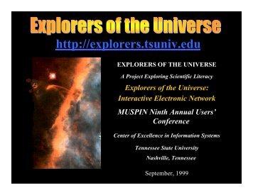Explorers of the Universe - Mu-SPIN - NASA