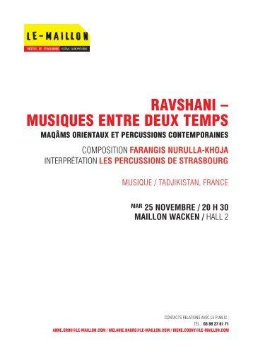 RAVSHANI – MUSIQUES ENTRE DEUX TEMPS - Artishoc