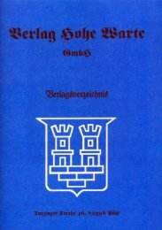 Verlagsverzeichnis - Verlag Hohe Warte Gmbh