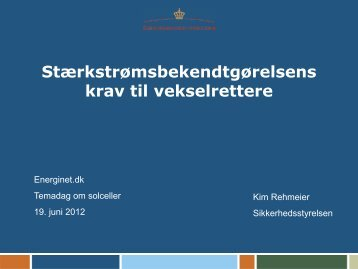 Væsentlige krav - Energinet.dk