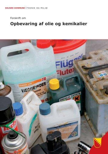 Forskrift om opbevaring af olie og kemikalier på ... - Solrød Kommune
