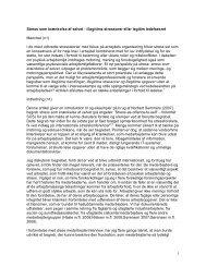 Stress som skrænkelse af selvet Ole H Sørensen.pdf - Det Danske ...