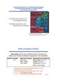 Aufbau und Funktionsweise von Computersystemen ... - Informatik