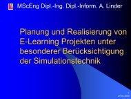 Planung und Realisierung von E-Learning Projekten ... - Informatik