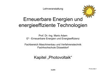 4 Photovoltaik [1.32 MB] - Fachhochschule Düsseldorf
