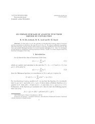 On certain subclass of analytic functions defined by convolution