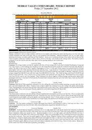 Market Report 21st September 2012 - Murray Valley Citrus Board