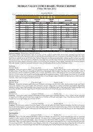 Market Report 8th June 2012 - Murray Valley Citrus Board