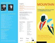Mountain View International Festival of Song and Chamber Music