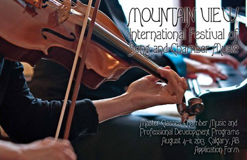 Mountain View International Festival of Song and Chamber Music ...