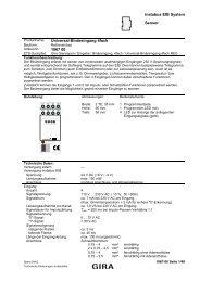 instabus EIB System Sensor Universal-Binäreingang 4fach 1067 00