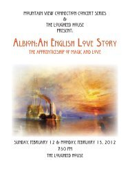 albion:an english love story - Mountain View International Festival of ...