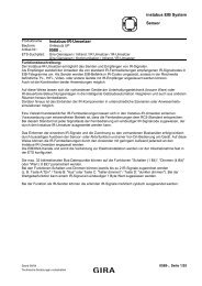 instabus EIB System Sensor Instabus-IR-Umsetzer 0588 ..