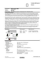 instabus EIB System Sensor Wetterstation REG 0571 00