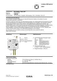 instabus EIB System Aktor Schaltaktor 1fach UP 1059 00 ...