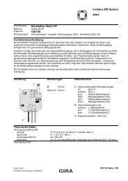 instabus EIB System Aktor Schaltaktor 2fach UP 1057 00 ...